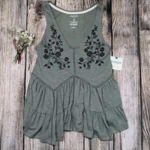 Arizona Jean Co Green Meadows Tank Size XS